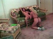 Silvia és az ő vöröske barátnője leszbi pornója
