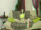 Unatkozó barna csaj szexi masztija 3D szexvideo  A video megnézéséhez használj vörös-cián 3D szemüveget!