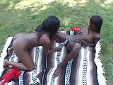 Néger leszbikusok a szabadban