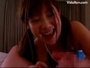 Fiatal ázsiai csaj cumizik, majd a szájába kapja  a spermát - Young Girl In Blue Bra and Panties Gets Facial