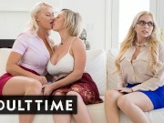 Hot lesbian MILFs masturbating so good