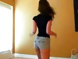 Szexi táncos vetkőzés
