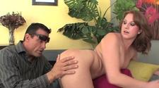 Nice ass of Farrah Fae shaking on stiff pecker